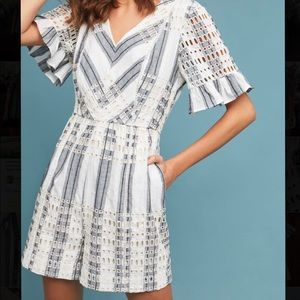 anthropologie striped eyelet romper by ett:twa